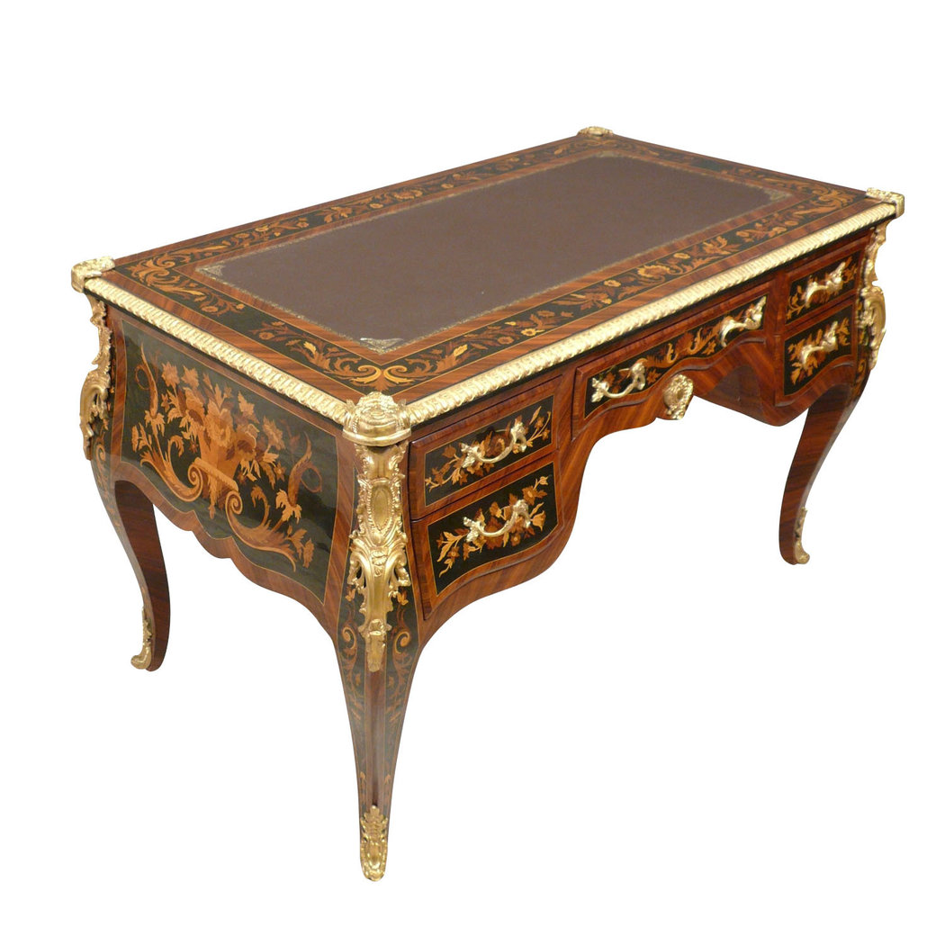 Bureau louis xv mobilier de style meubles art d co for Meuble bureau louis xv