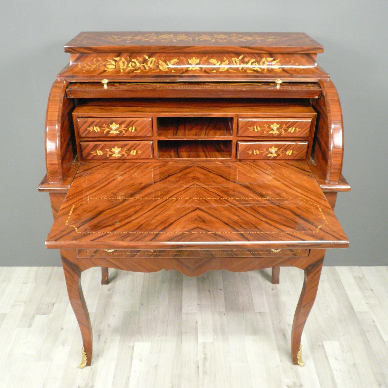Secr taire cylindre louis xv bureau louis xvi - Nettoyer un meuble vernis au tampon ...