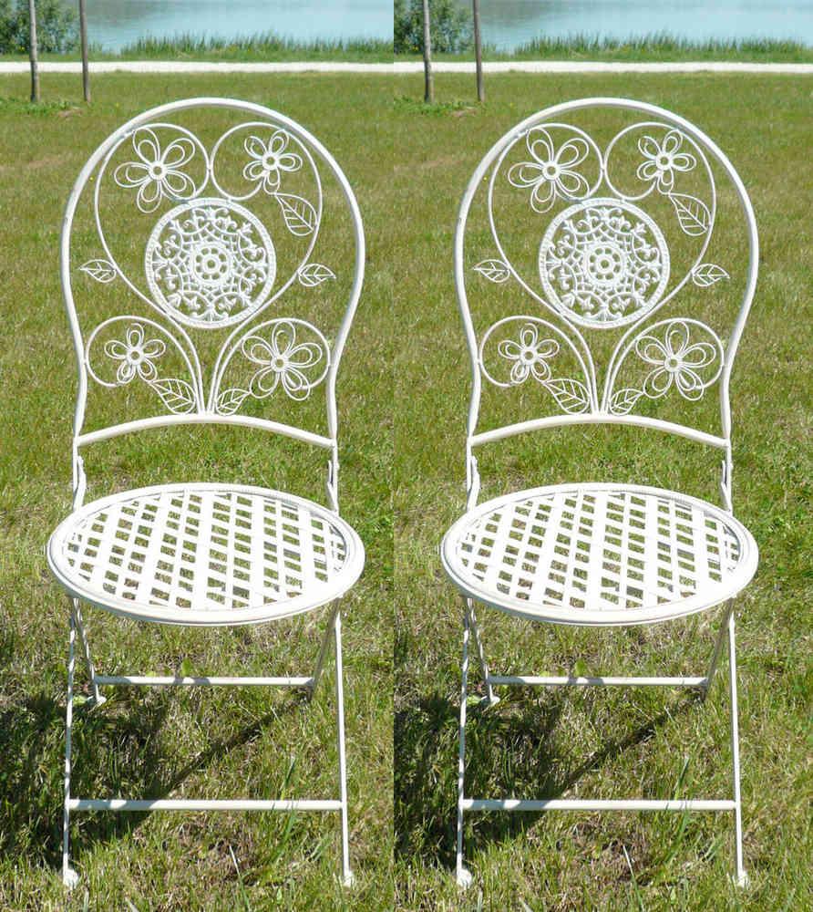 Paire De Chaises En Fer Forge Pour Salon Jardin