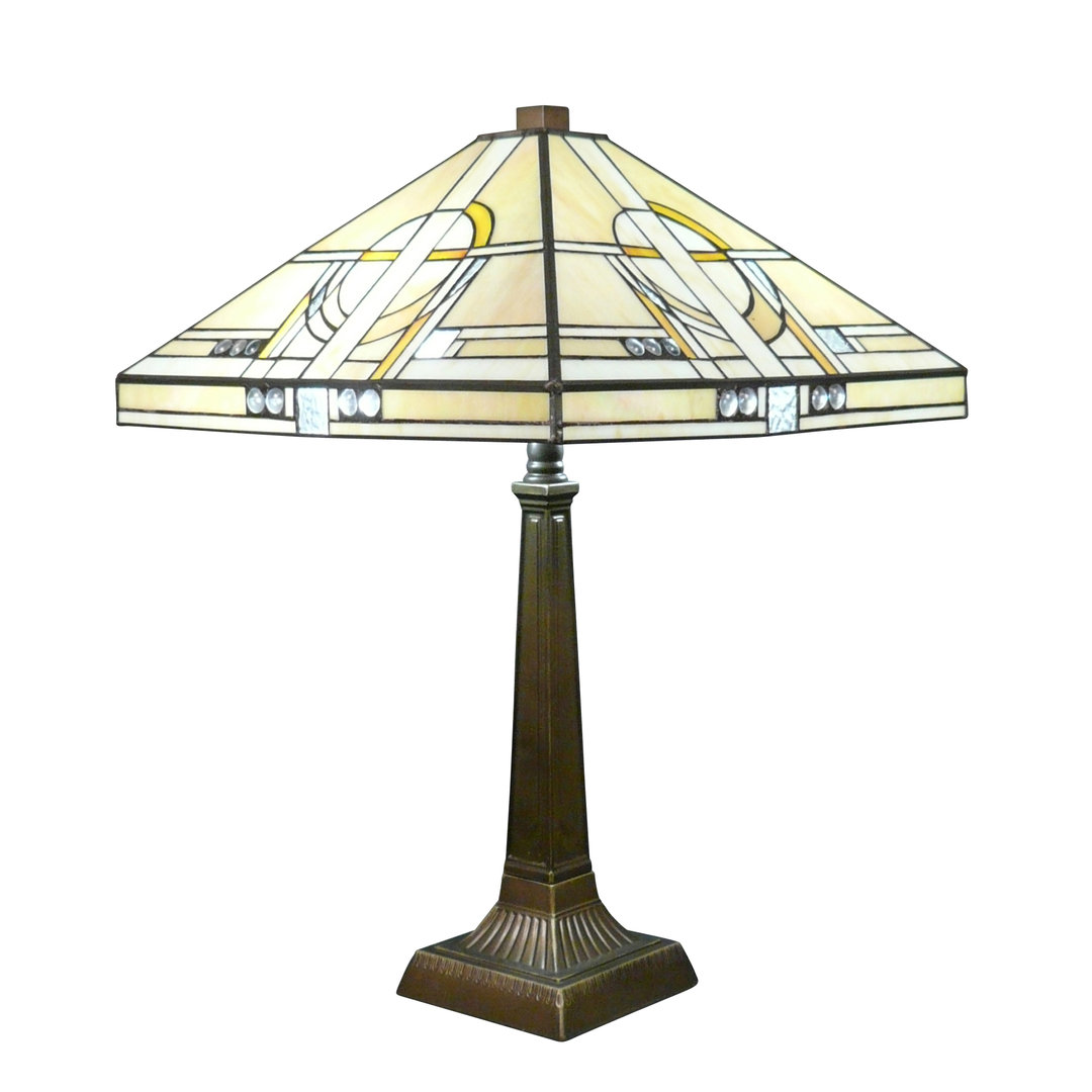Lampe tiffany art d co chicago lustres lampadaires for Art deco lampe