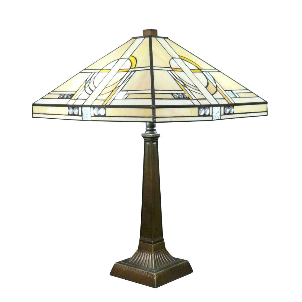 Tiffany Lampe Art Deco Tischlampe Tiffany