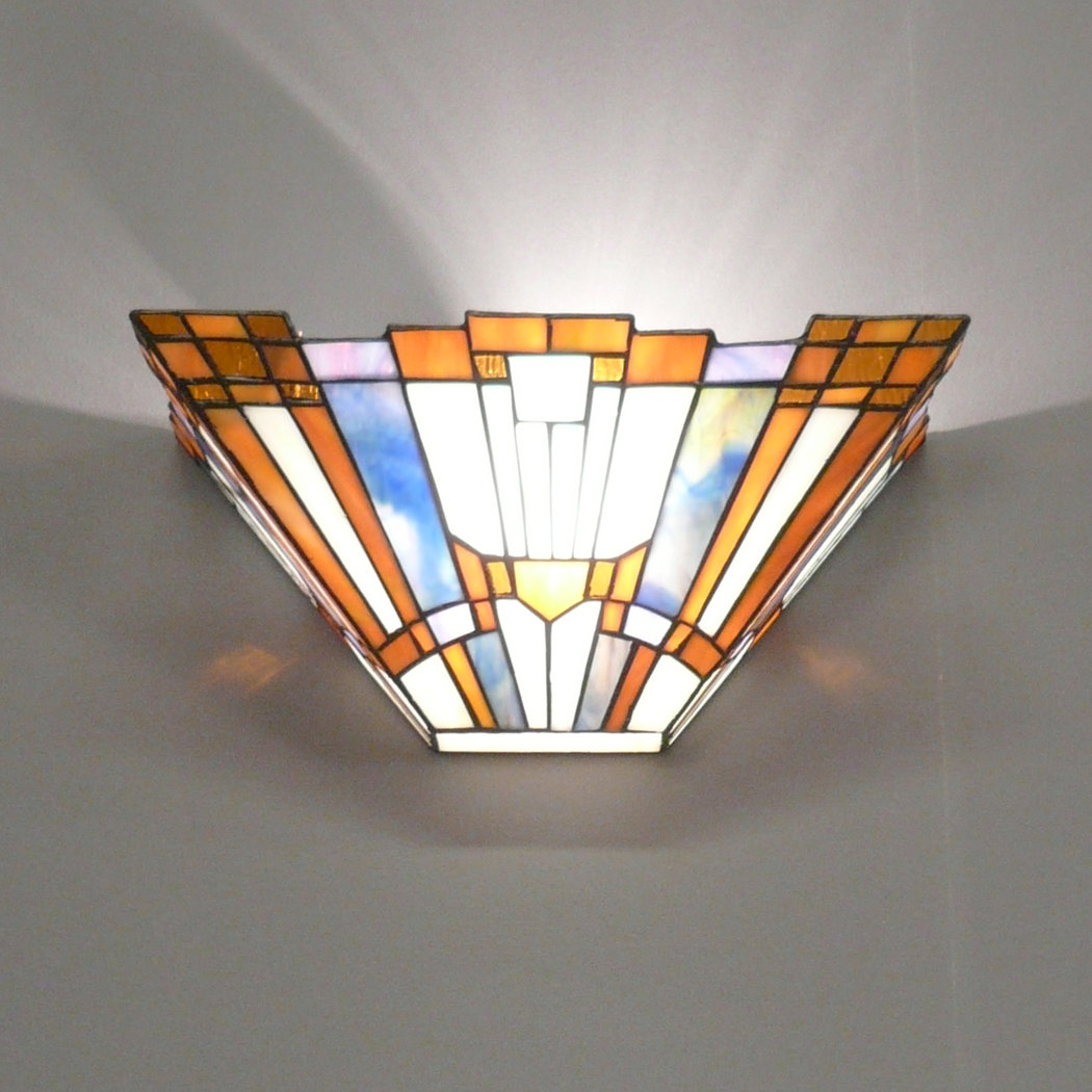 Wall sconce tiffany art deco chandeliers for Applique murale exterieure zinc