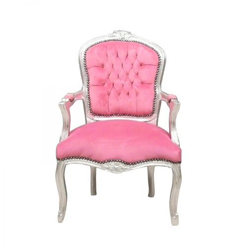Fauteuil Louis XV rose style baroque