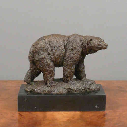Bronze sculpture of a bear