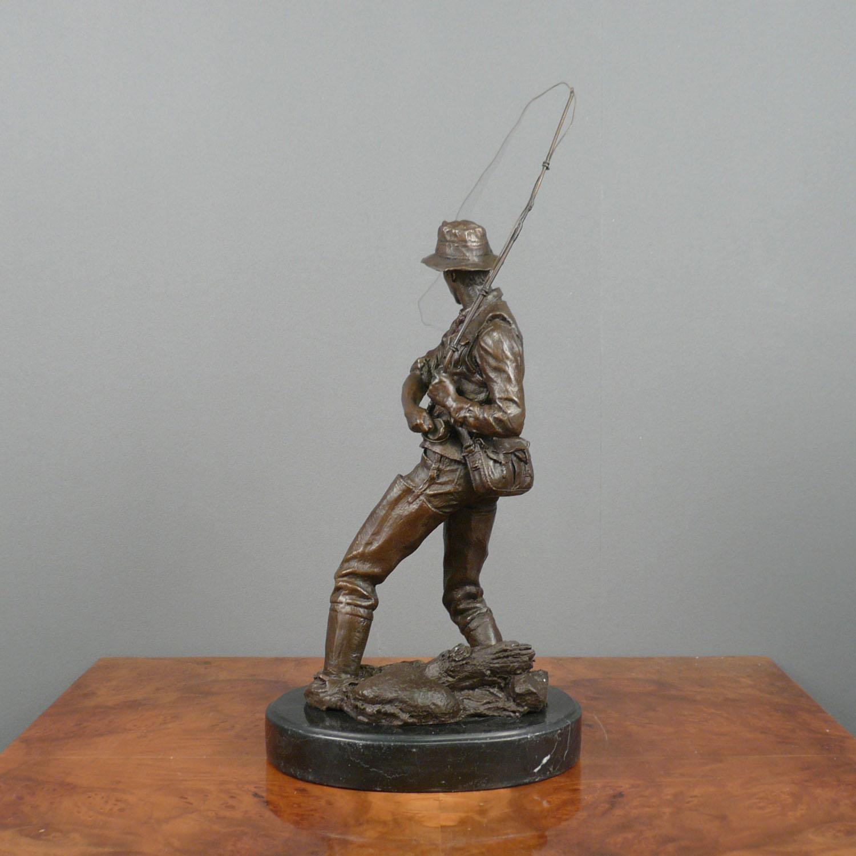 bronze sculpture the fisherman statues. Black Bedroom Furniture Sets. Home Design Ideas
