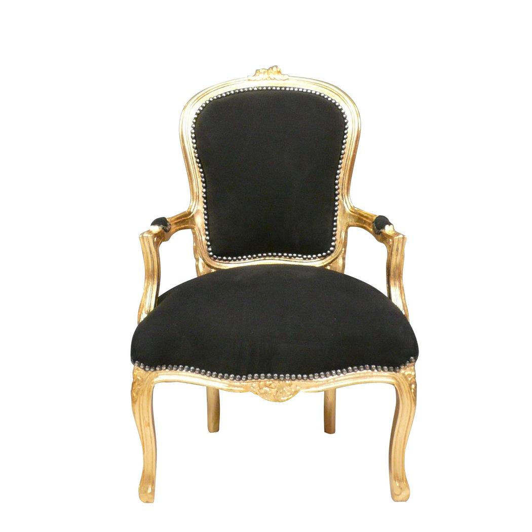 fauteuil louis xv noir et dor fauteuil cabriolet pas cher. Black Bedroom Furniture Sets. Home Design Ideas