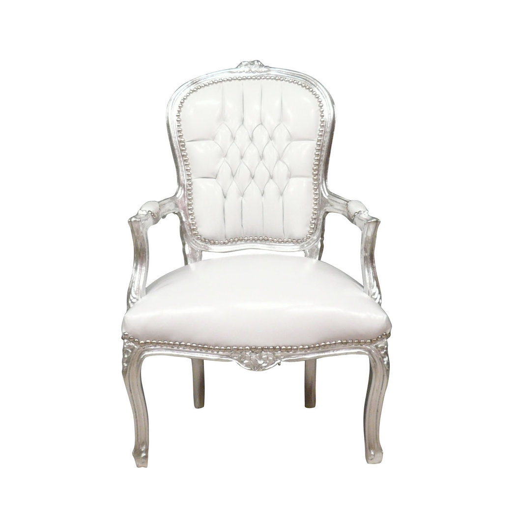 fauteuil baroque louis xv blanc pas cher. Black Bedroom Furniture Sets. Home Design Ideas