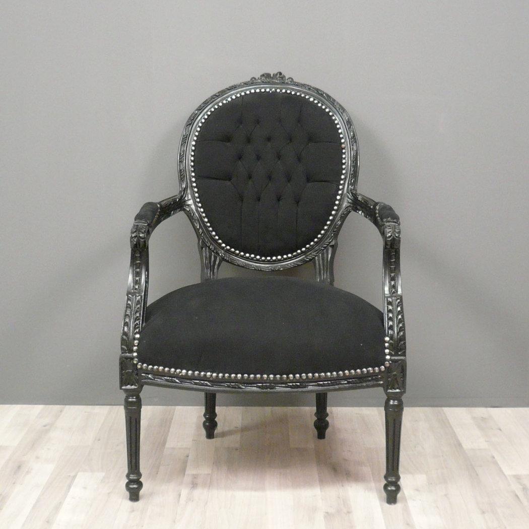 fauteuil louis xvi de style baroque chaise. Black Bedroom Furniture Sets. Home Design Ideas