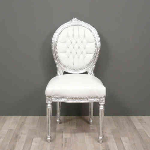 Chaise baroque avec accoudoir conceptions de maison for Chaise blanche accoudoir