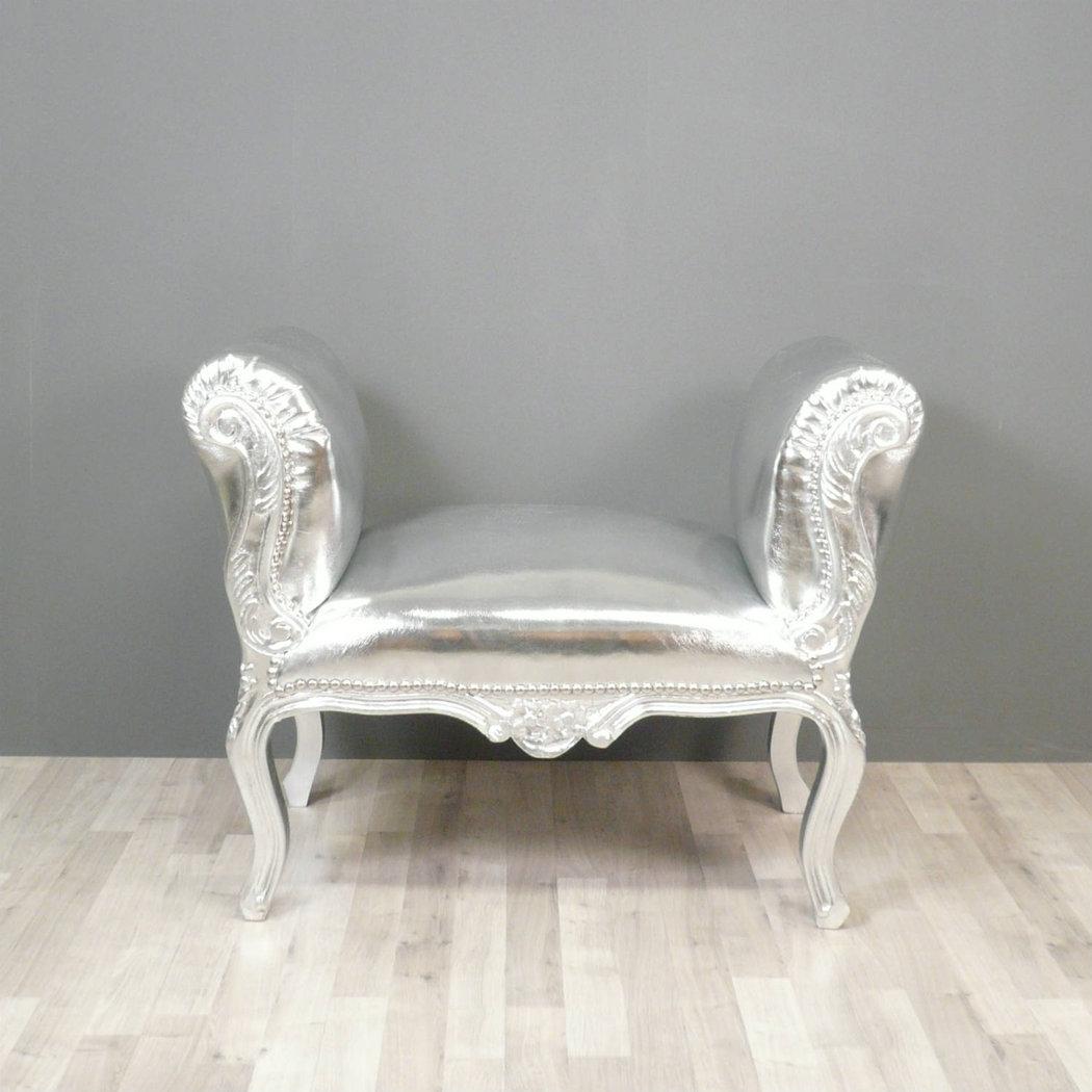 banquette baroque argent chaise baroque. Black Bedroom Furniture Sets. Home Design Ideas