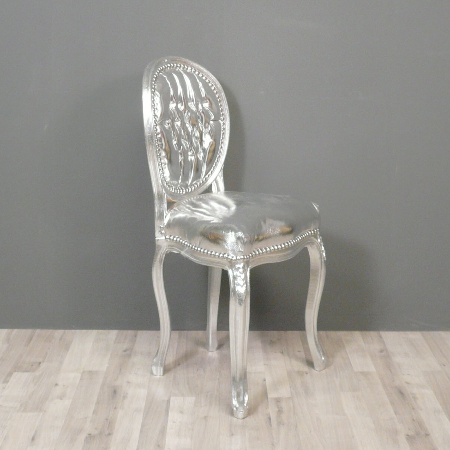 Baroque chair armchairs - Chaise baroque argentee ...