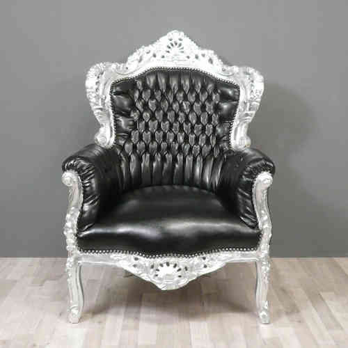 Baroque armchair black