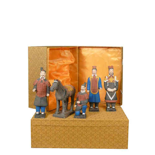 Set of 5 statuettes - Warriors Xian 25 cm