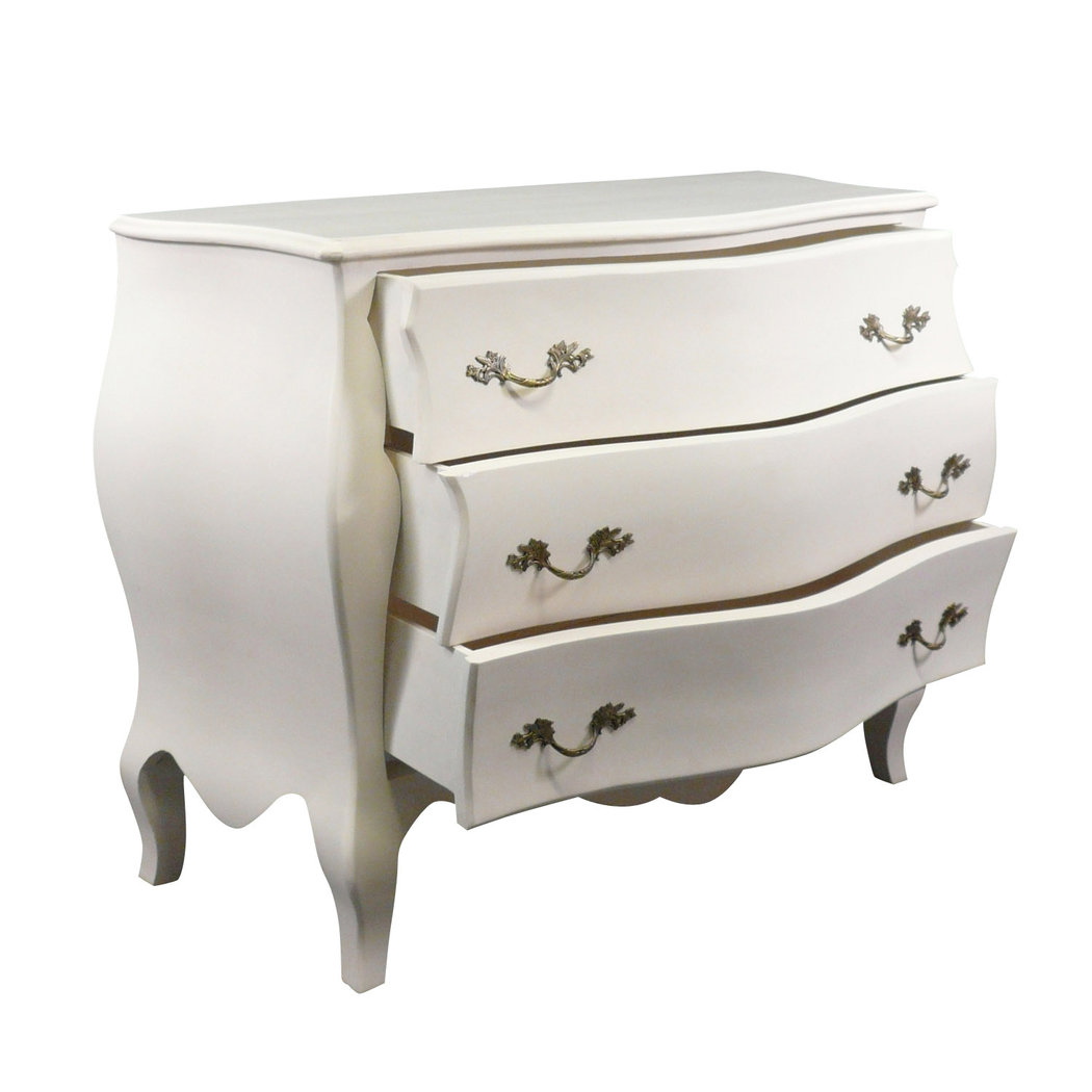 commode baroque blanche style louis xv commodes. Black Bedroom Furniture Sets. Home Design Ideas