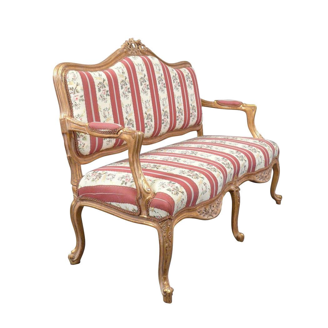 Canap louis xv meuble art d co et de style fauteuil for Canape a l ancienne