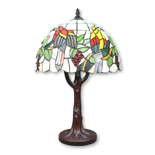 Tiffany lamp base tree-shaped