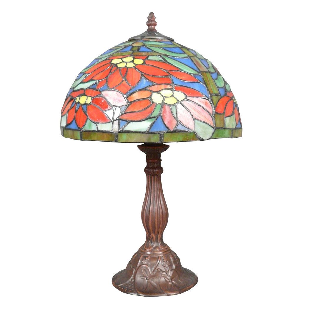 Lampada tiffany poinsettia illuminazione e art deco mobili for Mobili tiffany