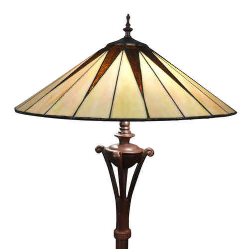 Lampada da terra Tiffany art deco
