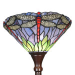 Tiffany stained glass floor lamp