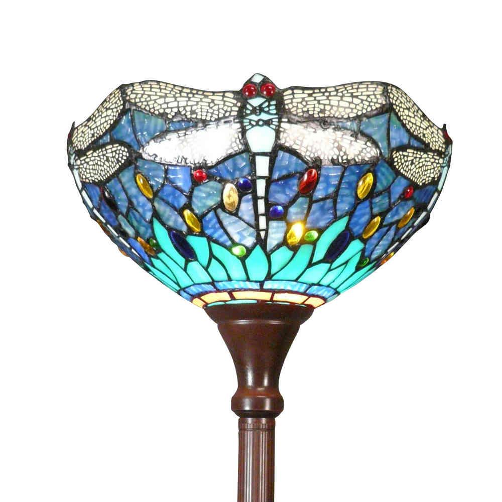 lámparas de pie Tiffany Mississippi Deco Lámparas Art 4q5ARLj3