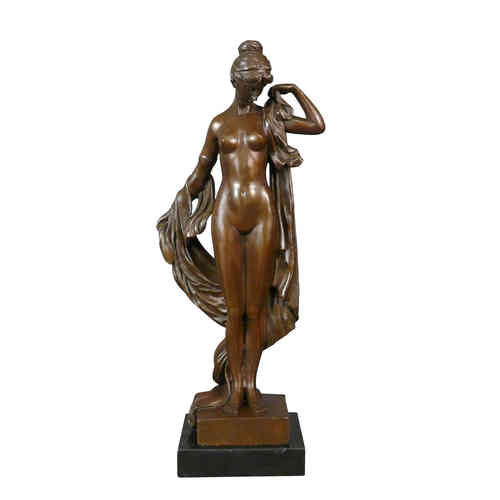 Bronze statue of a Greek goddess