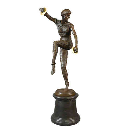 Art Deco bronze sculpture of a dancer