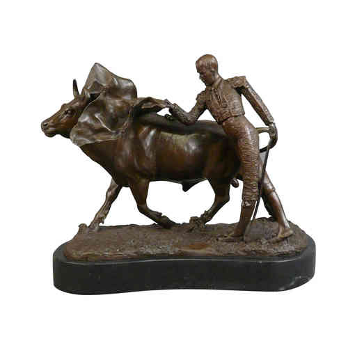 La corrida - Sculpture en bronze