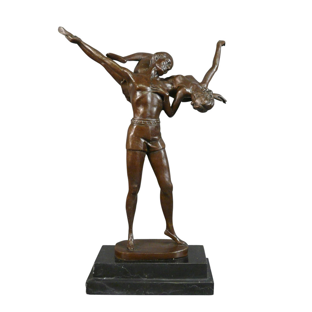 Couple of dancers bronze statue tiffany lamps bronze for Art decoration fr