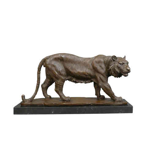 Sculpture en bronze d'un tigre