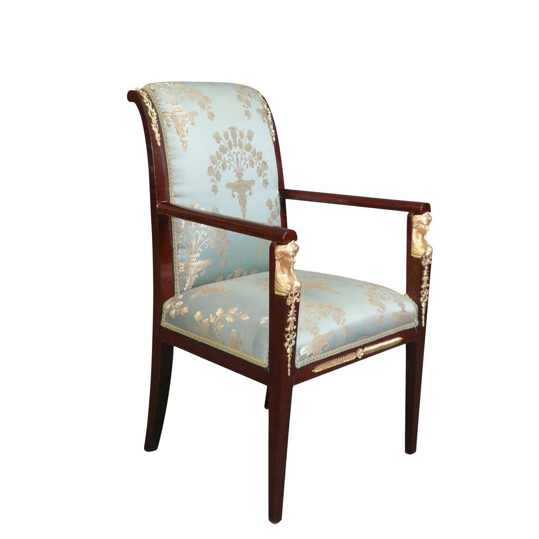 Fauteuil empire en acajou fauteuil louis xv et chaise - Chaise de bureau baroque ...