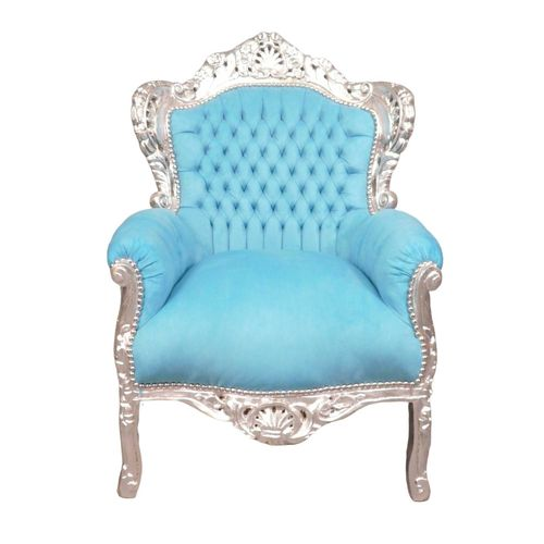 Baroque blue chair