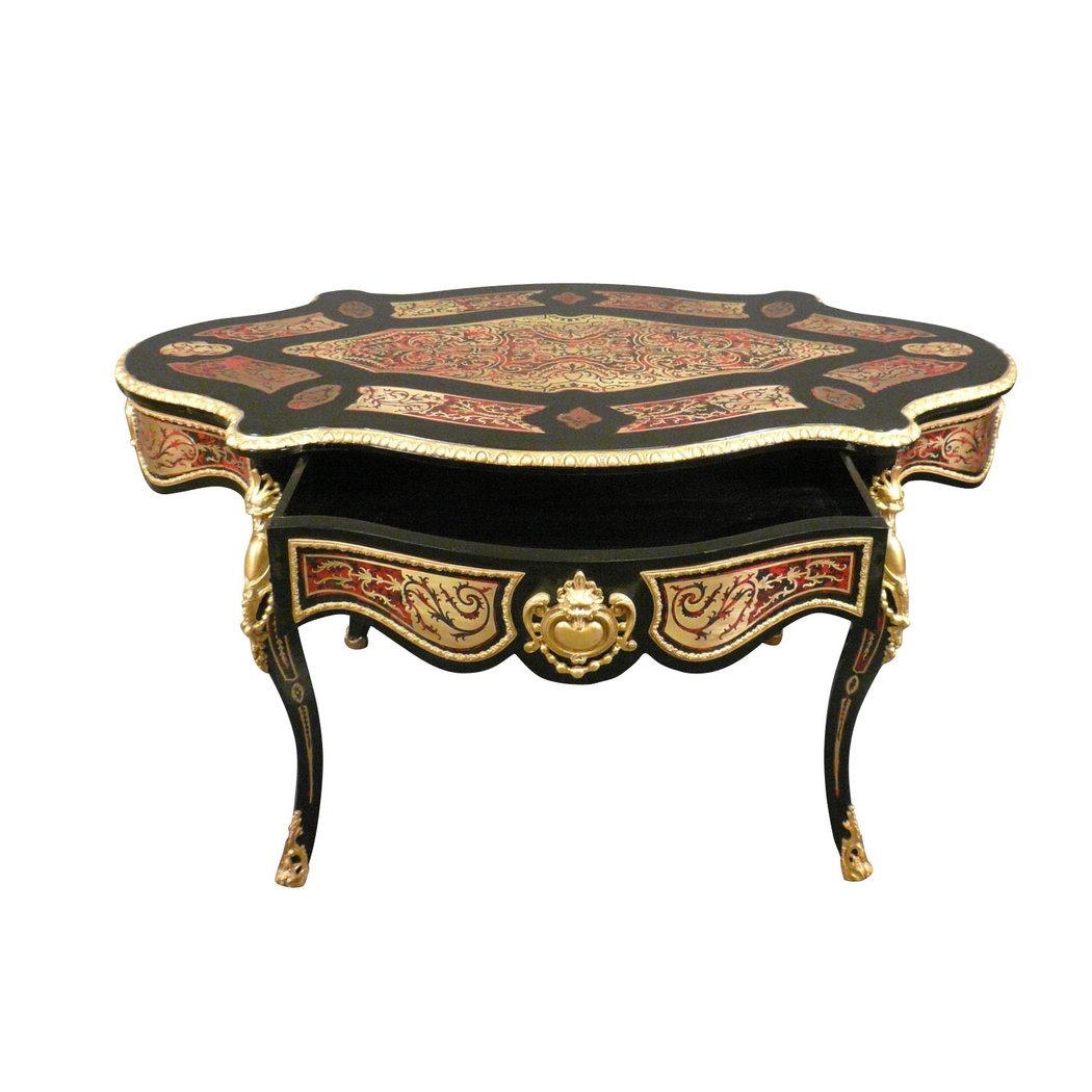 Table louis xv boulle meubles art d co lampes tiffany - Table louis xv ...