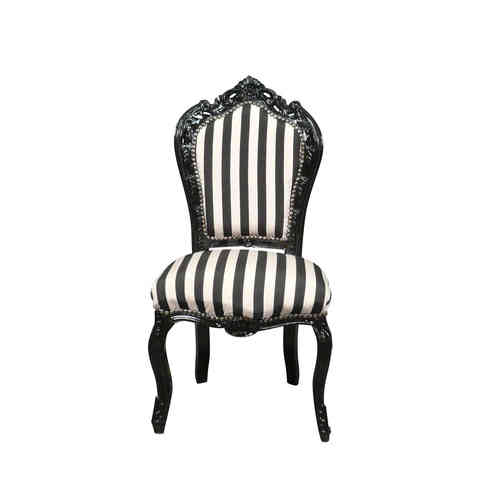 Black and white baroque chair