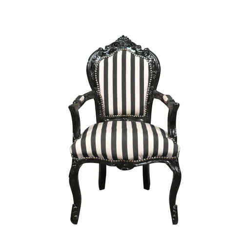Baroque armchair black and white