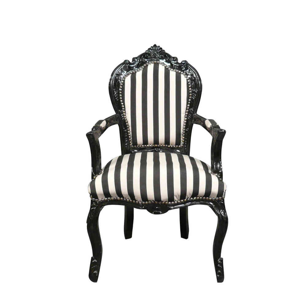 Fauteuil Baroque Noir Et Blanc