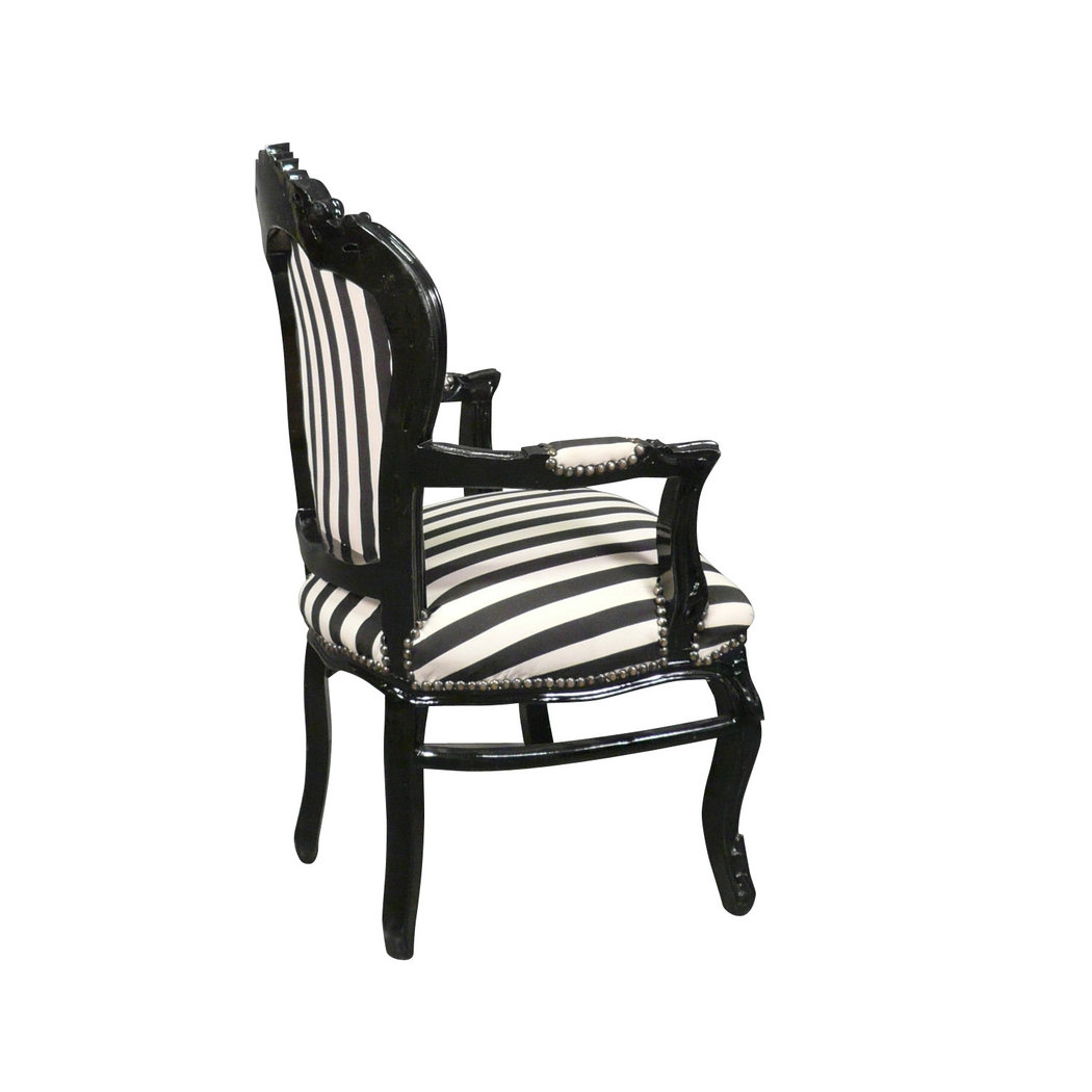 fauteuil baroque noir et blanc mobilier art d co. Black Bedroom Furniture Sets. Home Design Ideas