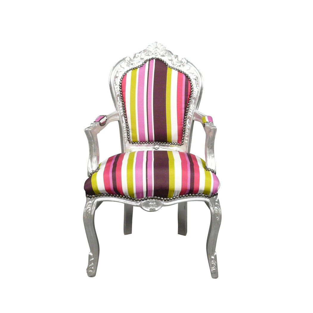 fauteuil baroque multicolore mobilier art d co chaise. Black Bedroom Furniture Sets. Home Design Ideas