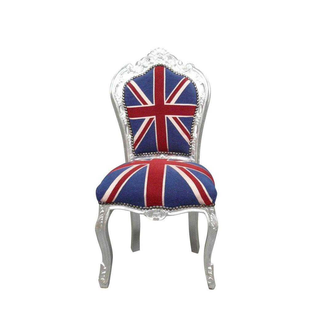 chaise baroque drapeau anglais meuble baroque. Black Bedroom Furniture Sets. Home Design Ideas