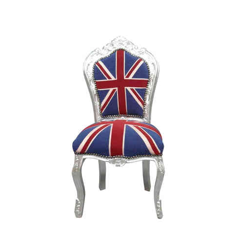 Baroque chair with the English flag