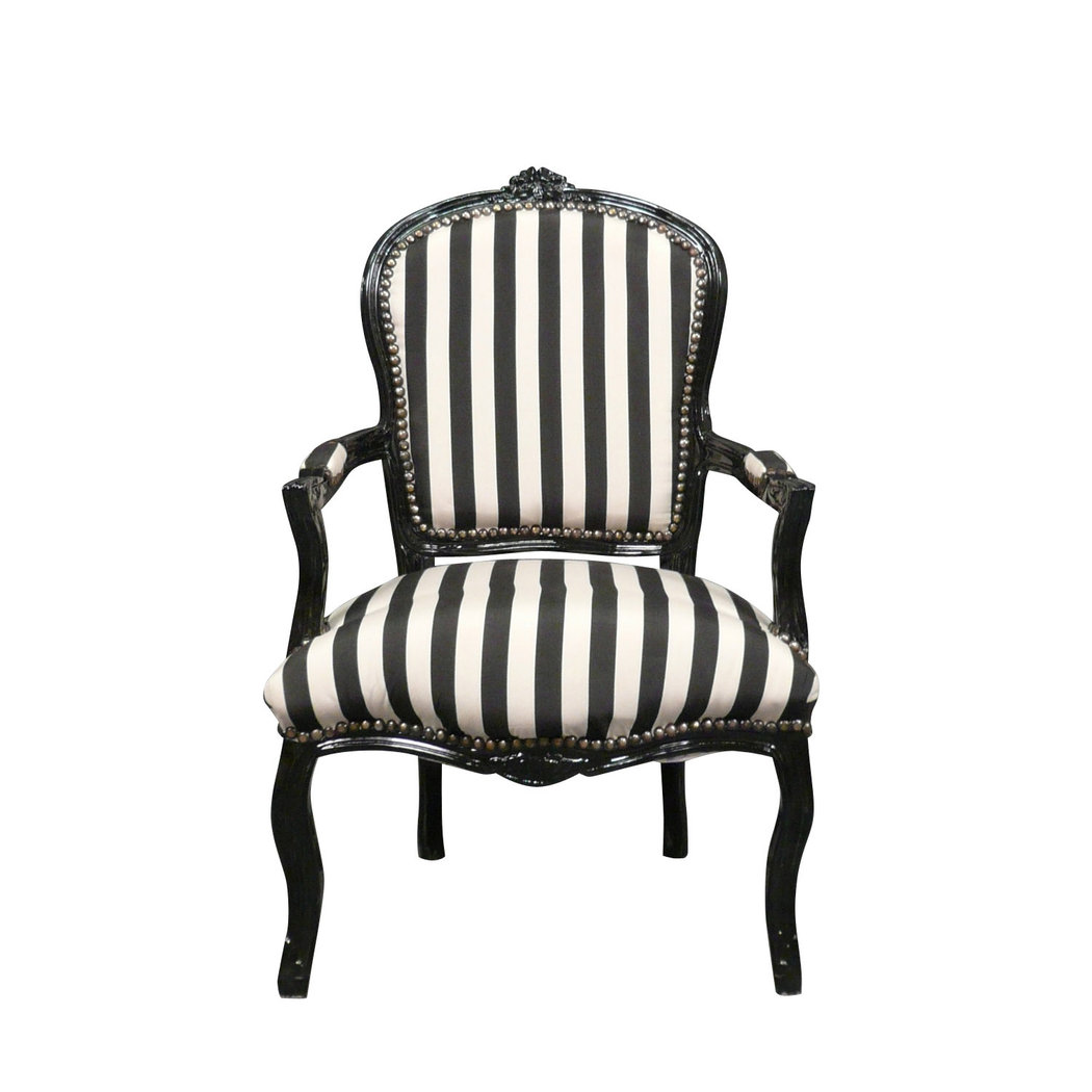 fauteuil louis xv tissu noir et blanc chaises et meubles de style. Black Bedroom Furniture Sets. Home Design Ideas
