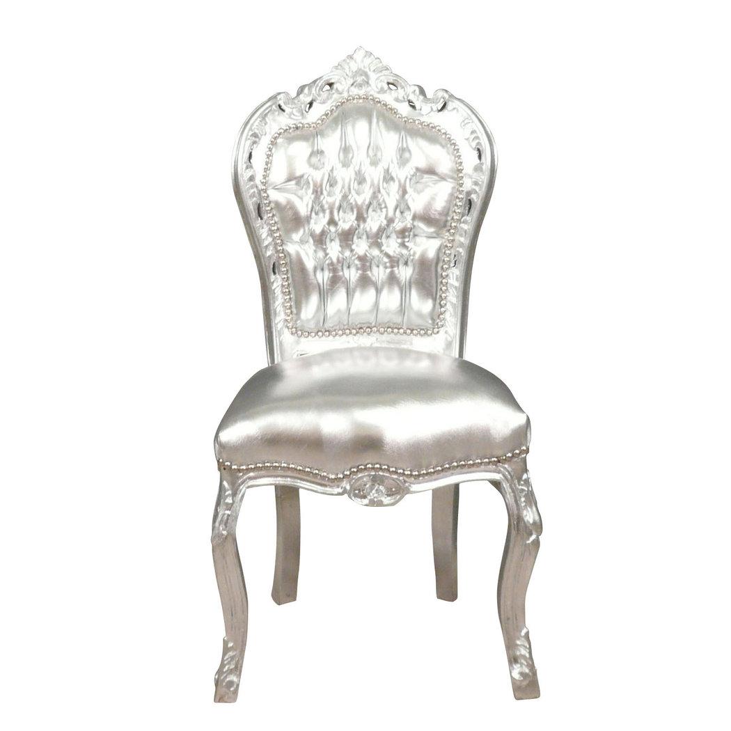 Chaise baroque argent e fauteuils baroques - Chaise baroque avec accoudoir ...