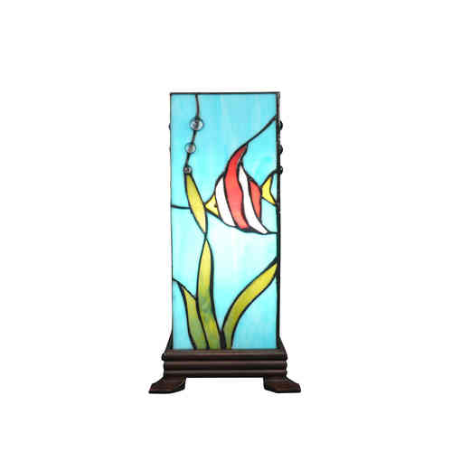 Tiffany lamp column fish