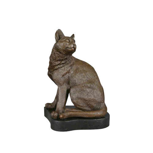 Bronze statue of a cat
