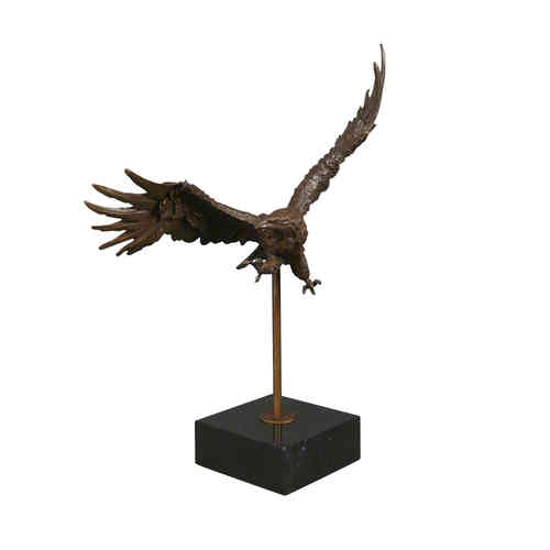 Bronze sculpture of a golden eagle