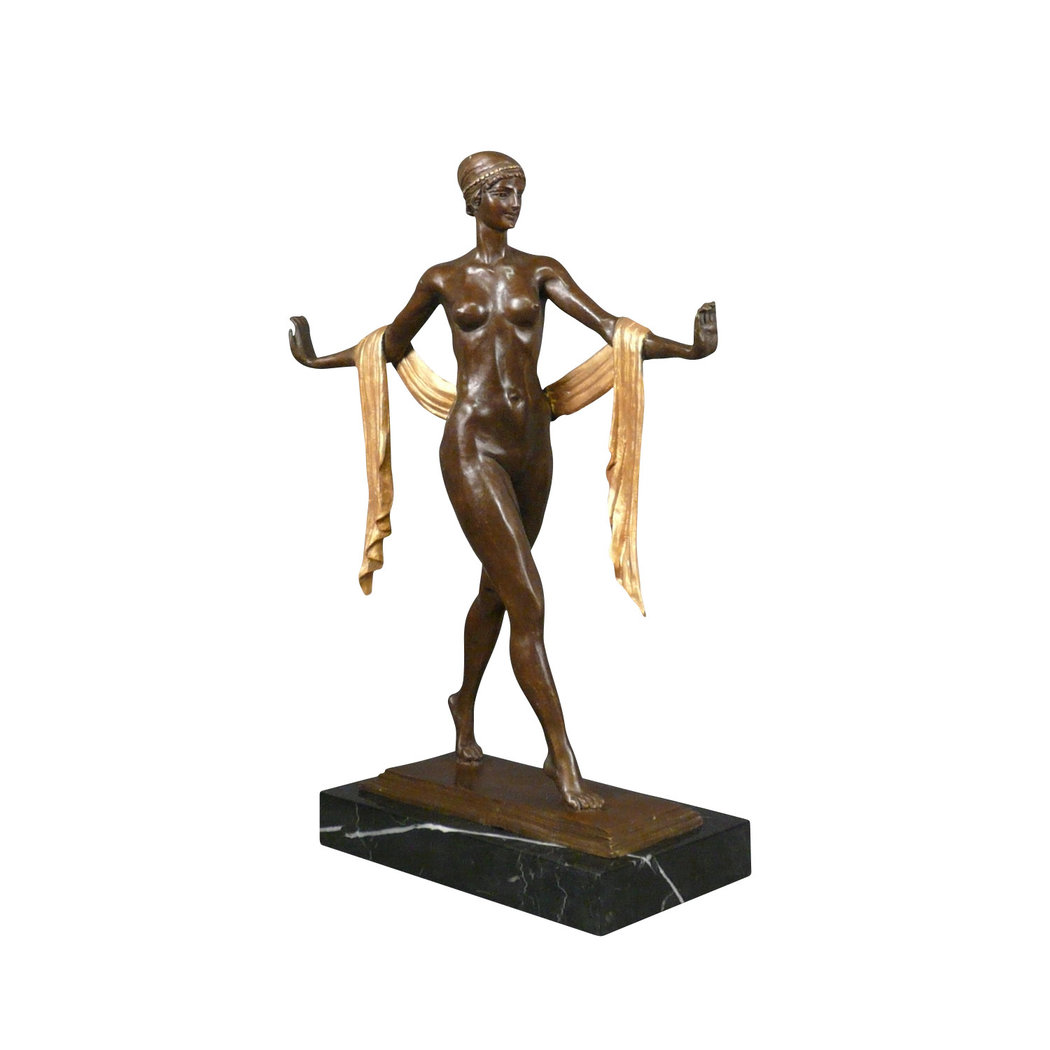 bronze statue brown and gold art deco statue. Black Bedroom Furniture Sets. Home Design Ideas
