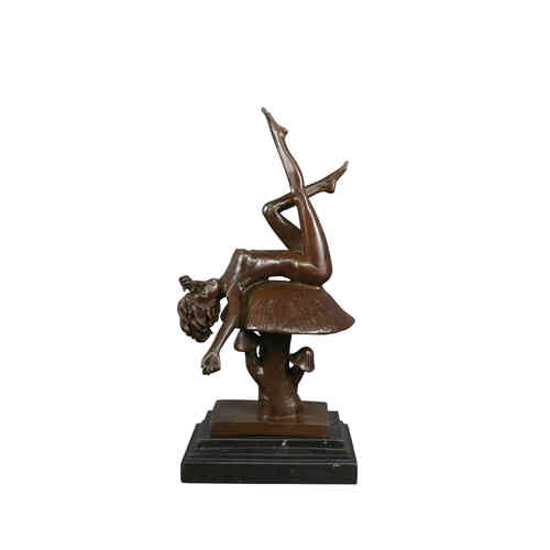 Bronze statue - nude - erotic Alice
