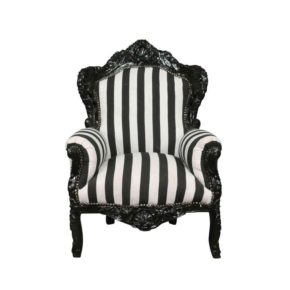 Noir Fauteuil Baroque Rcxbode Et Royal Xvi Meubles Louis Blanc AL4j53Rq