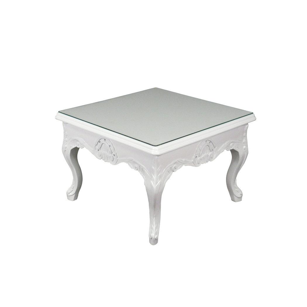 Mesa de centro blanca barroco silla barroca - Mesa centro blanca ...