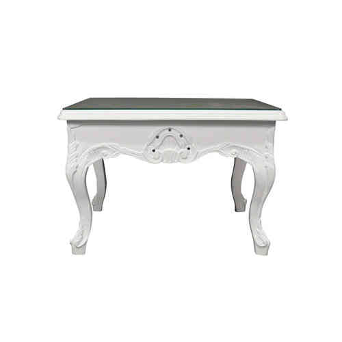 Table basse baroque blanche