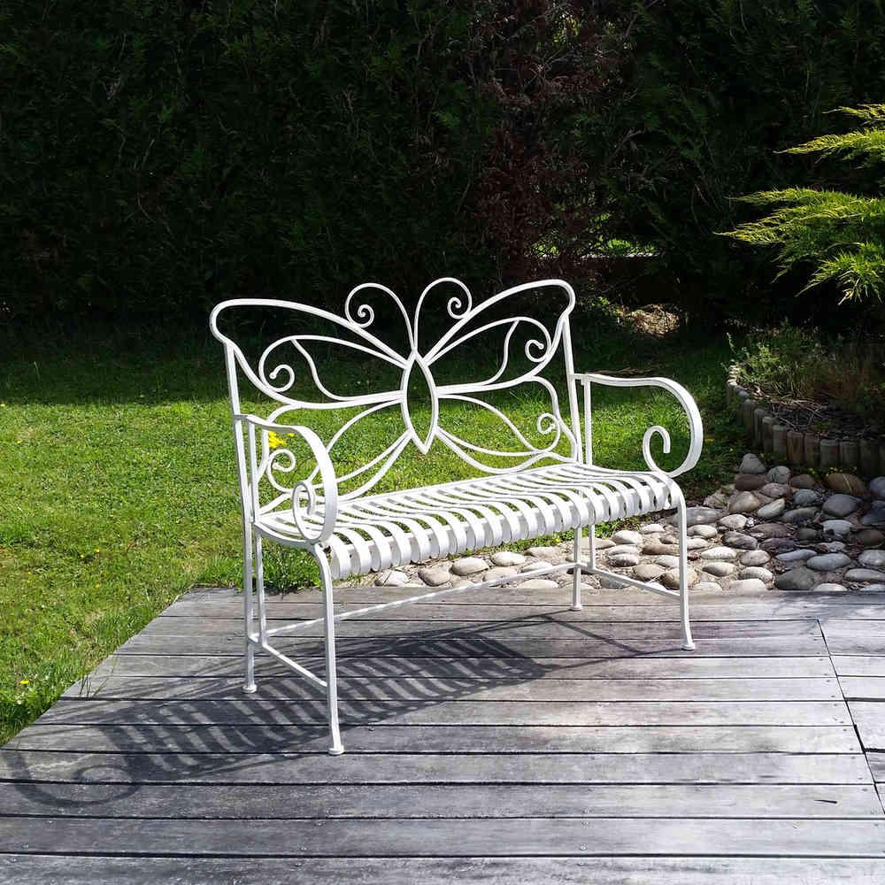 Banc De Jardin En Fer Forgé Papillon Table Chaise